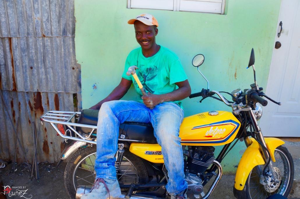 Man on Yellow Bike