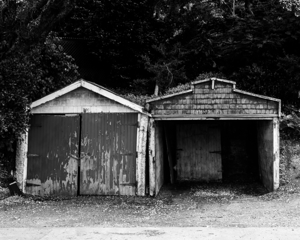 Black and White Garages