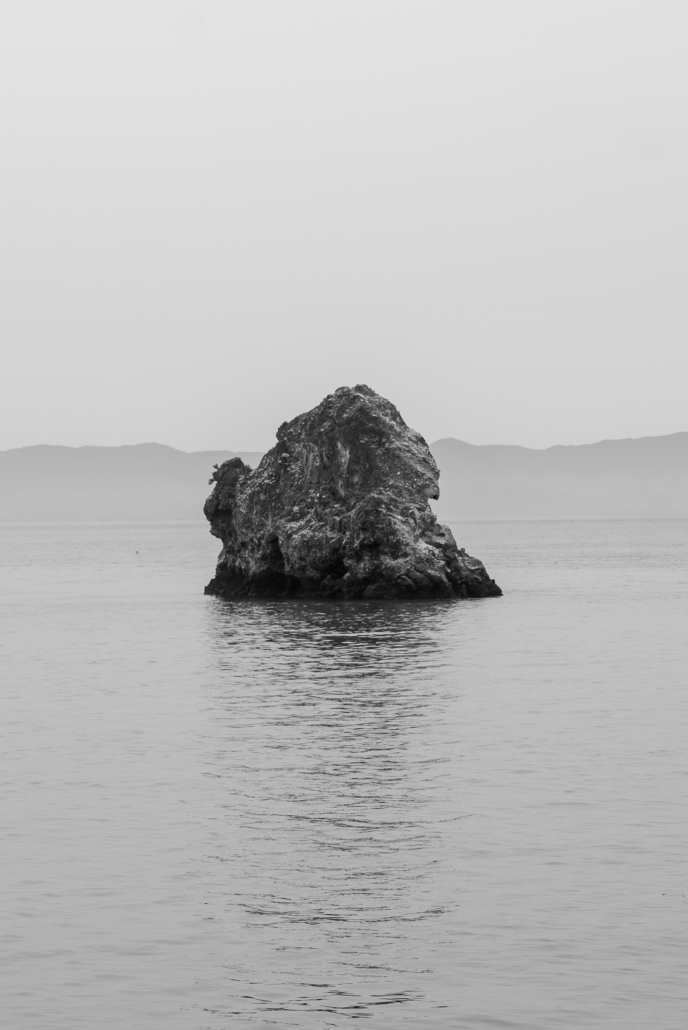 Rock Alone in Water