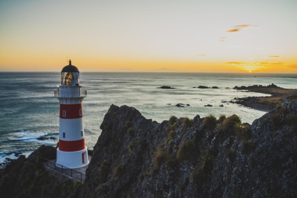 Lighthouse Near Sunset