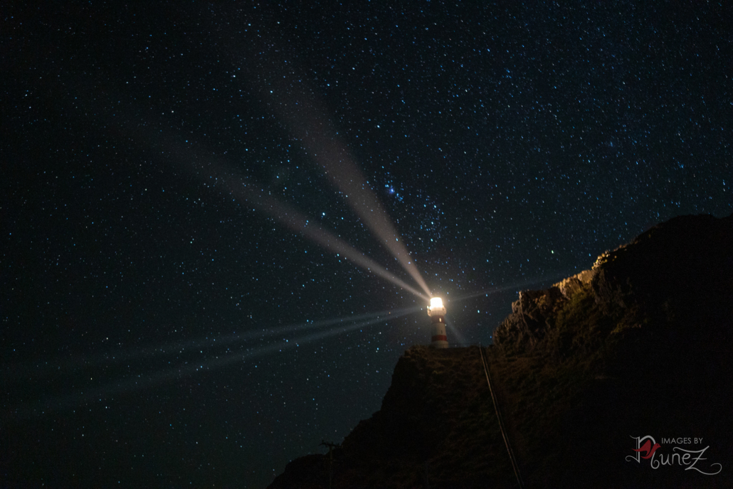 Lighthouse Beams in the Night